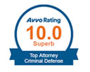AVVO TOP 100 CRIMINAL DEFENSE ATTORNEY IN THE NATION