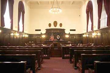 Fifth Circuit Appeals New Orleans Courtroom